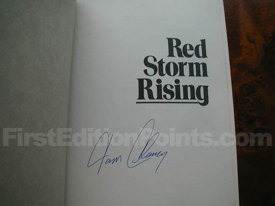 Tom Clancy's signature.