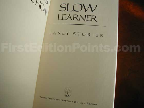 Identification picture of Slow Learner.
