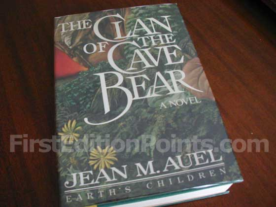 Picture of the 1980 first edition dust jacket for The Clan of the Cave Bear.