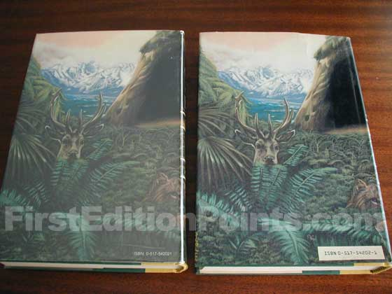 The book on the left has the first issue dust jacket.  The book on the right has a later