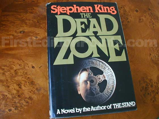 Picture of the 1979 first edition dust jacket for The Dead Zone.