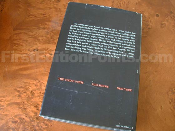 Picture of the back dust jacket for the first edition of The Dead Zone.