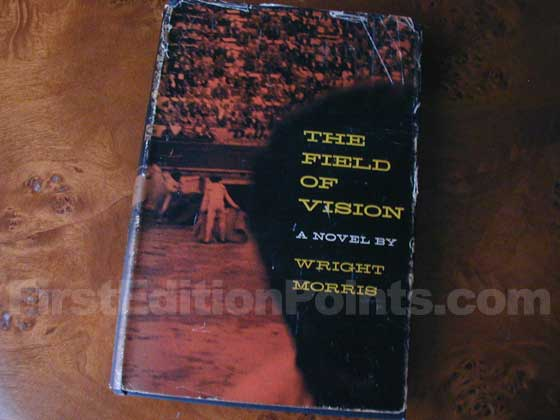 This is a later state of the 1956 first edition dust jacket for The Field of Visio