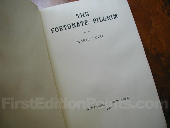 Picture of the first edition title page for The Fortunate Pilgrim.
