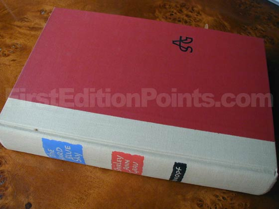 Picture of the first edition Alfred A. Knopf boards for The Hard Blue Sky.