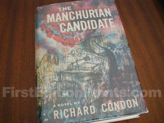 Picture of the 1959 first edition dust jacket for The Manchurian Candidate.