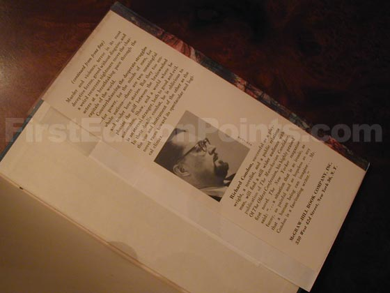 Picture of the back dust jacket flap for the first edition of The Manchurian Candidate.