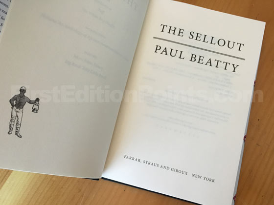 Picture of the first edition title page for The Sellout.