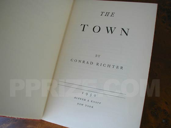 Picture of the first edition title page for The Town.