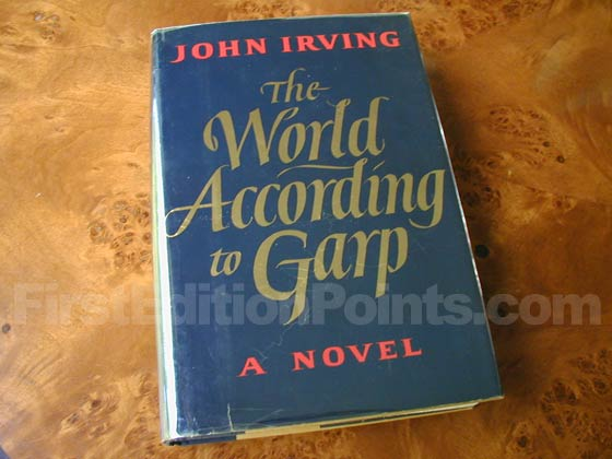 Picture of the 1978 first edition dust jacket for The World According to Garp.