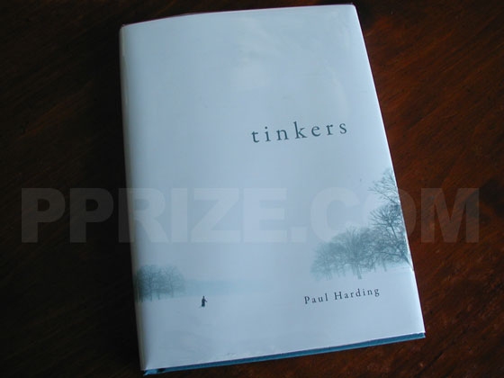 The front cover from the first edition hardcover of Tinkers.