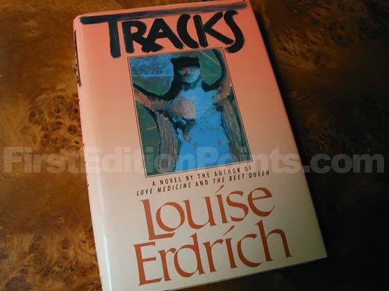 Picture of the 1988 first edition dust jacket for Tracks.