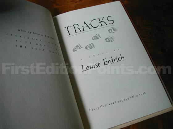 Picture of the first edition title page for Tracks.