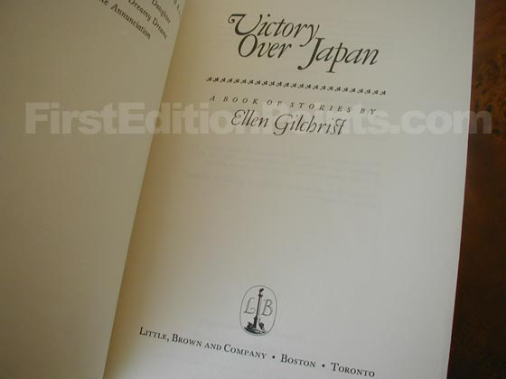 Picture of the first edition title page for Victory Over Japan.