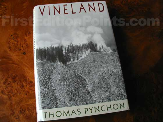 Picture of the 1990 first edition dust jacket for Vineland.