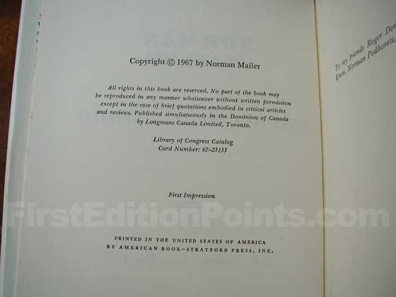 Picture of the first edition copyright page for Why Are We in Vietnam?.